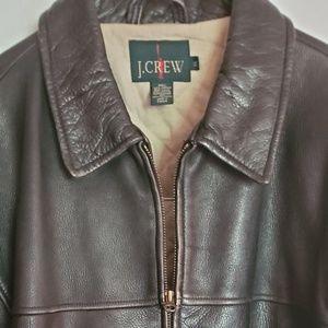 Men's J. CREW Black Distressed Leather Bomber